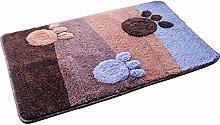 Eastlion Türmatten Badezimmer Anti-Rutsch Matten Küche Toilette Bodenbelag Haushalt Fußmatten,Stil 14,L 50*80cm