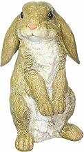Eastwind Gifts Garten-Statue neugieriger Kaninchen