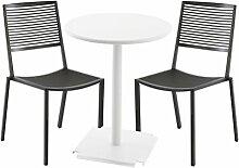 Easy Cross/Tonic Gartenset, grau metallic Tisch