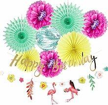 Easy Joy Flamingo Geburtstag Mottoparty Dekoration