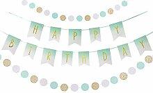 Easy Joy Geburtstag Banner Mint Grün Happy