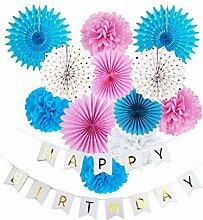 Easy Joy Happy Birthday Geburtstagsdeko Kit Rosa