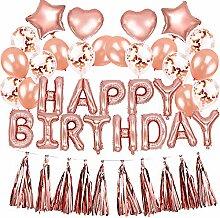 Easy Joy Rose Gold Luftballons Geburtstag