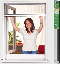 easy life Alu Insektenschutz-Rollo greenLINE für Fenster 80 x 130 cm in Weiß Fliegengitter-Rollo Aluminium + Fiberglas kürzbar