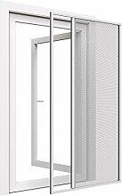easy life Alu Insektenschutz-Rollo greenLINE für Türen 150 x 220 cm Schiebetür in Weiß Rollotür Aluminium + Fiberglas kürzbar