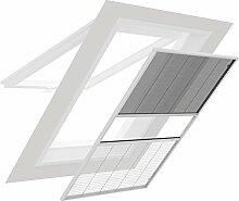 Easy Life Dachfenster-Kombiplissee aus Alu Insekten- und Sonnenschutz 130x160 cm Individuell Kürzbarer Bausatz