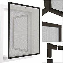 easy life® INSEKTENSCHUTZ FENSTER easyLINE 80 x 100 cm grau ALU Rahmen - weitere Größen und Farben wählbar