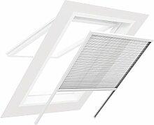 easy life Insektenschutz Plissee für Dachfenster 130x160cm weiß ALU: perfekte Optik & optimaler Schutz - weitere Größen