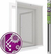 easy life Pollenschutz Alu Fenster ALLERGICpro 130 x 150 cm in Weiß Insektenschutz Fenster easyLINE Pollenschutzgitter und Fliegengitter