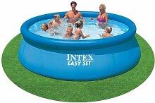 Easy Pool 457 cm * 84 cm, ohne Zubehör, Quick up Pool, mit aufblasbarem Rand