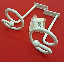 Easy-Shadow - 4 Stück Drapierhaken weiß für