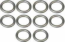 Easy-Shadow - 50 Stück Gardinenringe Ringe