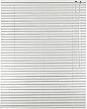 Easy-Shadow Aluminium-Jalousie 25 mm Lamellen Breite 90 x 130 cm Höhe in Farbe weiss - Bedienseite rechts - Alu-Jalousie Fensterjalousie Jalousette Jalousien Alu-Jalousien Alu-Jalousetten Fenster Rollo Lamellenbreite 25mm