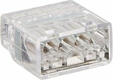 Easy-Twist Push-In Wire Connector, 4 Wires, Clear