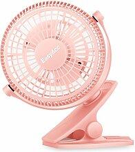 EasyAcc 720° Drehung Clip Schreibtisch Ventilator