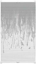 EASYFIX Plissee mit 2 Bedienschienen Rainfall grau