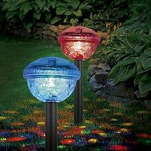 EASYmaxx 04298 Solar-Partyleuchte mit Farbwechsel | 2er-Set | Outdoor