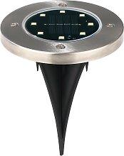 EASYmaxx LED Gartenleuchte Solar-Bodenleuchte,