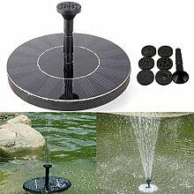 easyshop 7 V Solar Power Schwimm Brushless Wasserpumpe Garten Landschaft Unterwasser Brunnen