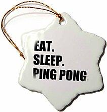 EAT SLEEP-3dRose Pong-Sport Humor/Spaß, Geschenk,