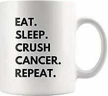 Eat Sleep Crush Cancer Repeat Empathy Kaffeetasse
