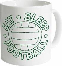 Eat Sleep Football Tasse