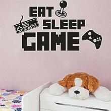 Eat Sleep Spiel Aufkleber Gaming Vinyl Aufkleber