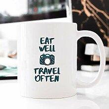 Eat Well Travel Often Mug Mug for Her Mug for Him