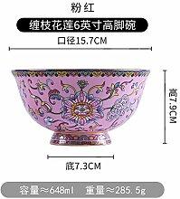 Eating bowl ceramic enamel color is not hot