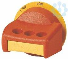 Eaton 100733 Drehgriff, rot-gelb, abschliessbar, Baugrösse 1