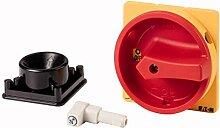 Eaton 172841 Griff, rot/gelb, abschließbar, für Metallachse, für Vorhängeschloss, für P3
