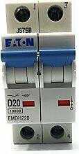 Eaton emdh220–2Pole MCB 20A 10KA Typ D DP Miniatur Leitungsschutzschalter