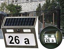 EATYNEN Hausnummer Beleuchtete Solar mit 7 LEDs,
