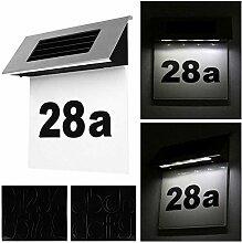 EATYNEN LED Solarhausnummer Edelstahl Solar