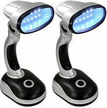 Eaxus® 2er Set LED Schreibtischlampe - kabellose