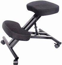 Eazygoods Ergonomischer Kniestuhl für orthopädische Körperhaltung, für Büro, Laptop, Hocker, Stuhl, Sitz ohne Rückenlehne, stärkt unteren Rückenbereich