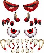 EBaokuup Halloween-Monster-Garagentür-Aufkleber,