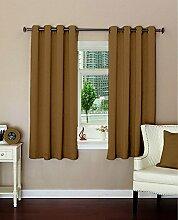 Ebene lushomes Öse Luxus Vorhänge blackout Tür- / Fenster festes Muster drapers 1 Stück