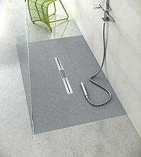 ebenerdige Dusche mit Duschrinne 160x80 aus