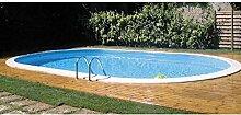 Ebenerdiger Pool Gre KPEOV5059– Gre Madagascar oval 500x 300x 150cm