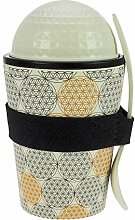ebos Lunch-to-Go Becher aus Bambus | Salat-to-Go,