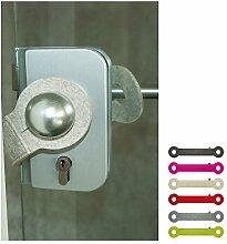 ebos Türstopper aus 100% Wollfilz | Klemmschutz,