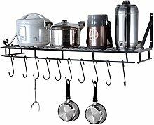 EBTOOLS Küchenregal aus Metall mit 10 Haken 90 cm