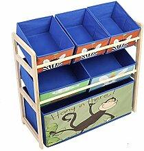 EBTOOLS Spielzeugregal, 3 Schichten 6 Fächer