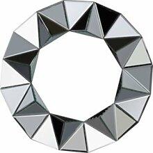 Ebury Weinregal aus Wandspiegel rund–Silber (225848855)