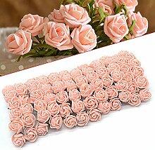 ebuybox® 144er Rosa Pink Schaumrosen Brautstrauss