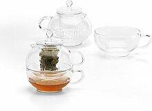 eBuyGB 350ml Klarglas Teekanne Cup mit-Ei/Sieb
