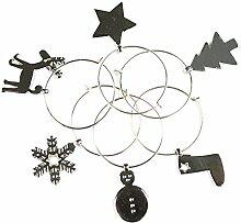 eBuyGB 6Stück Weihnachten Weinglas-Charms,