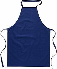 eBuyGB Plain Köche 100 % Baumwolle Küche Schürze Unisex - Catering Cooking Grill Chef (blau)