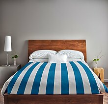Ebydesign gestreifter Bettbezug, Queen-Size-Bett,